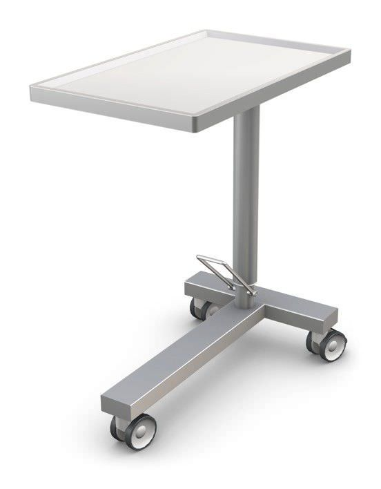 instrument table with shelves on casters height adjustable rh medicalexpo com Industrial Shelving Industrial Shelving