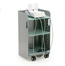 Transport trolley / for medical devices / 3-shelf / electric