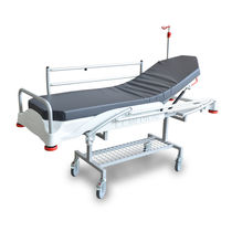 Transport stretcher trolley / 2 sections