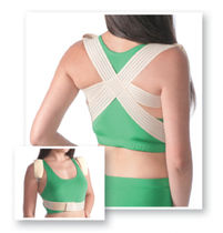 Posture-correcting orthosis / vertebral hyperextention