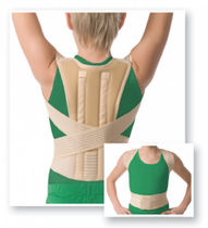 Posture-correcting orthosis / vertebral hyperextention / with flexible stays / pediatric