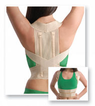 Posture-correcting orthosis / vertebral hyperextention / with flexible stays
