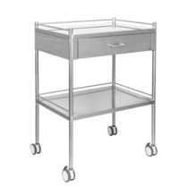 Dressing trolley / 1-drawer / with shelf / stainless steel