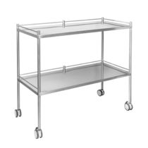 Dressing trolley / 2-shelf / stainless steel