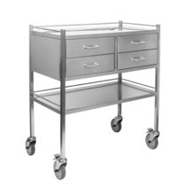Anesthesia cart / for instruments / 4-drawer / 2-shelf