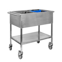 Transport trolley / storage / medical records / with shelf