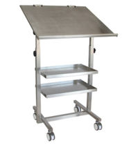 Work table / rectangular / on casters / stainless steel