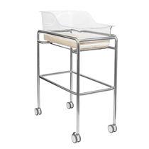 Hospital bassinet on casters / transparent