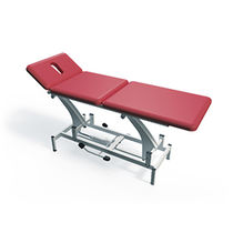 Hydraulic massage table / height-adjustable / 3-section