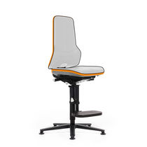 Laboratory chair / office / with high backrest / with footrest
