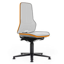 Laboratory chair / office / with high backrest / height-adjustable