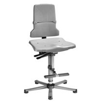 Laboratory chair / office / with footrest / height-adjustable