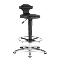 Laboratory stool / height-adjustable / with backrest