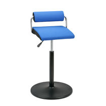 Doctor's office stool / height-adjustable / with backrest