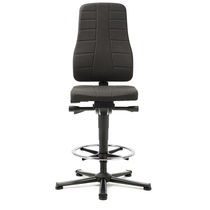 Office chair / with high backrest / with footrest / height-adjustable