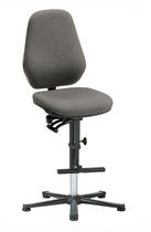 Laboratory chair / with footrest / height-adjustable