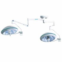 Ceiling-mounted surgical light / halogen / 2-arm