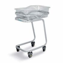 Hospital bassinet on casters / Trendelenburg / transparent / metal