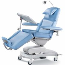 Electric hemodialysis chair / 3-section / height-adjustable / on casters