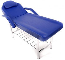 Manual massage table / with headrest / with armrests / 2-section