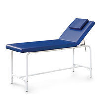 Physiotherapy examination table / manual / fixed-height / 2-section