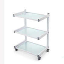 Multi-function trolley / with drawer / 3-tray / medical