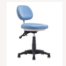 Height-adjustable stool / on casters / with backrest