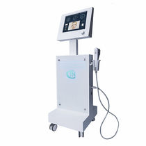 HIFU ultrasound generator / for skin rejuvenation / trolley-mounted