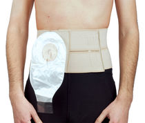 Abdominal support belt / adult / with colostomy pouch opening