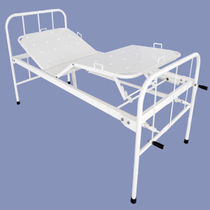 Hospital bed / manual / fixed-height / 4-section