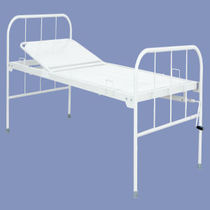 Hospital bed / manual / fixed-height / 2-section