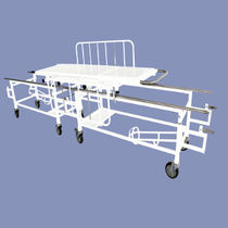Transfer stretcher trolley / manual / 2 sections