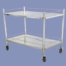 Storage trolley / for instruments / 2-tray