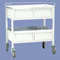 Storage trolley / for medicine / 4-drawer