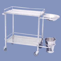 Dressing trolley / 2-tray / with bucket