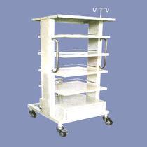 Storage trolley / for instruments / 1-drawer / 4-shelf