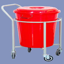 Cleaning trolley / dirty linen / with bucket
