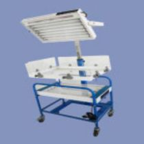 Infant phototherapy lamp / on casters / fluorescent bulb
