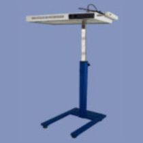 Infant phototherapy lamp / floor-standing / fluorescent bulb