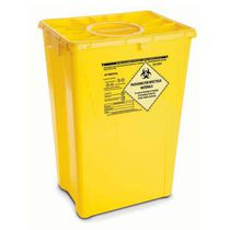 Waste container / storage / hermetic / single-use