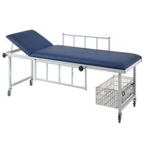 Manual examination table / fixed-height / on casters / 2-section