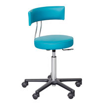 Doctor's office stool / height-adjustable / swivel / with backrest