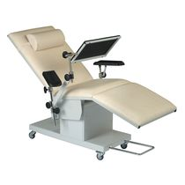 Manual blood transfusion chair / 3-section / on casters