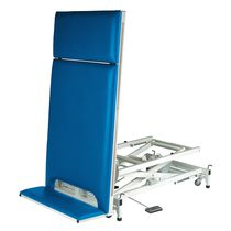 2 sections tilt table / therapy / height-adjustable / on casters