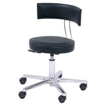 Surgical stool / height-adjustable / swivel / with backrest