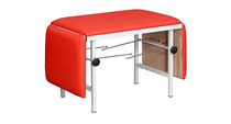 Fixed-height examination table / on casters / 3-section / pediatric