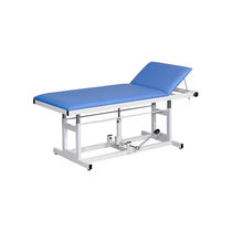 Hydraulic examination table / height-adjustable / 2-section / bariatric