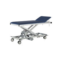 Hydraulic examination table / height-adjustable / on casters / 2-section