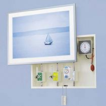 Wall-mount supply unit / with plug sockets