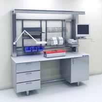 Modular laboratory workstation / floor-standing
